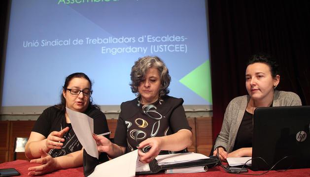 Assemblea del sindicat d'Escaldes-Engordany, al febrer