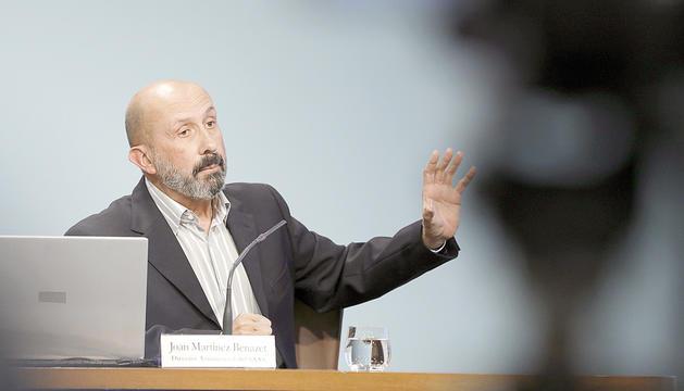 El director assistencial del SAAS, Joan Martínez Benazet, en una roda de premsa.
