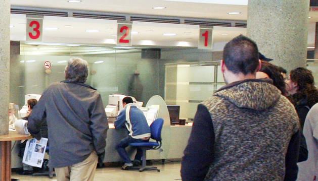 Sala d'atenció al públic a la planta baixa de la CASS.