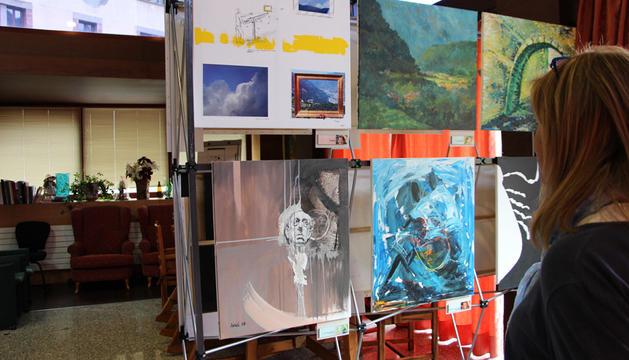 Exposició de pintures a la Casa Pairal d'Ordino