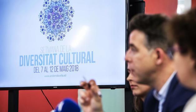 Imatge de la presentació de la Setmana de la diversitat cultural.