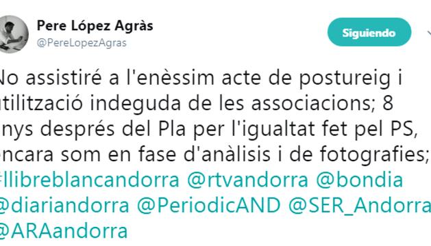"""López acusa Espot de fer """"postureig""""en afers socials"""