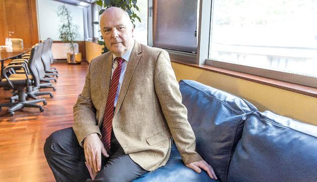 Danny Pieters, durant l'entrevista mantinguda a la seu de la CASS.
