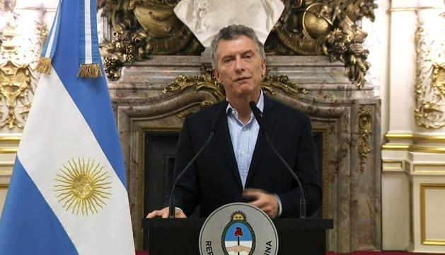 El president de l'Argentina, Mauricio Macri, ahir.