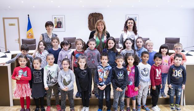 Visita dels alumnes de maternal de l'escola francesa