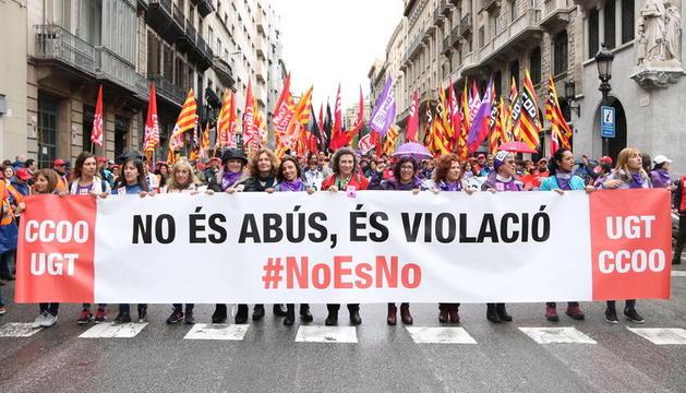 Una de les protestes pel cas de 'La Manada' a Barcelona.