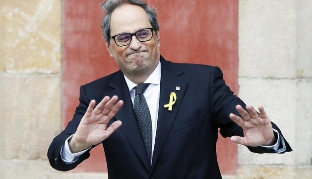Quim Torra, després de ser investit president de la Generalitat.