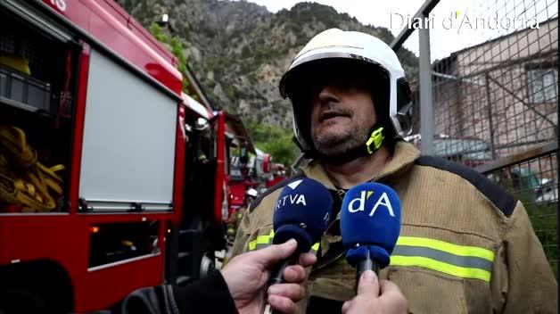 Incendi prop de la residència El Cedre