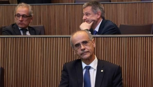 El cap de Govern, Toni Martí, durant el Consell General