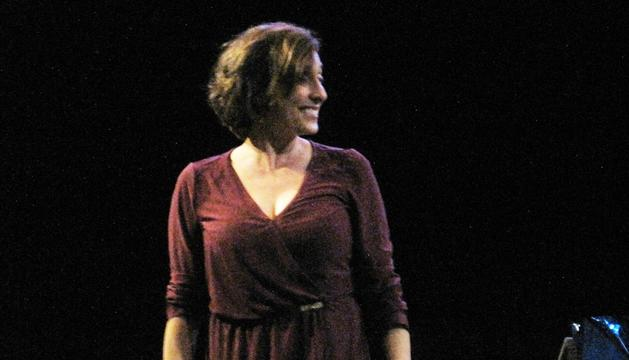L'actriu catalana, en un moment de l'obra.