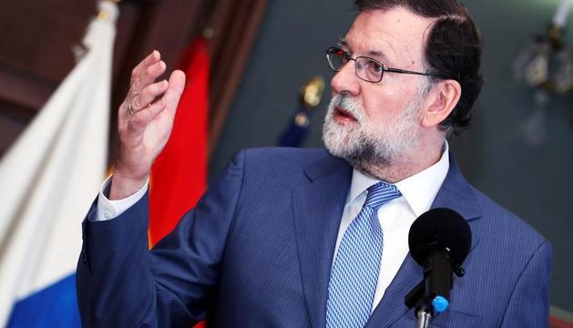 El president espanyol, Mariano Rajoy, en un acte aquest dissabte.