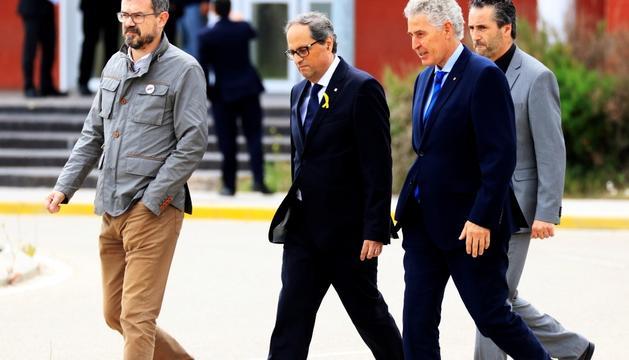 El president català, Quim Torra, després de visitar ahir els presos polítics a la presó d'Estremera.