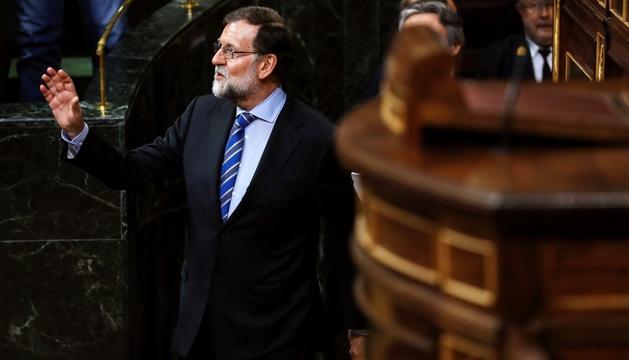 Mariano Rajoy, ahir durant el ple del Congrés.