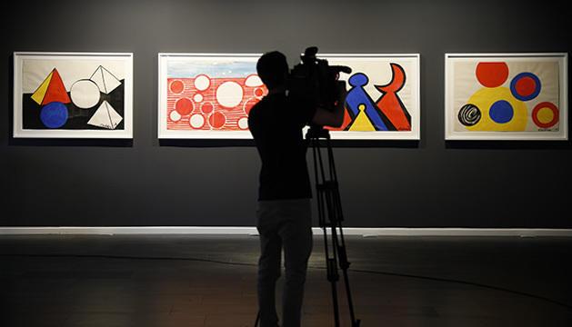 Peces d'Alexander Calder exposades a la galeria de Govern