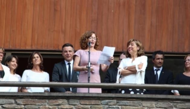 L'actriu Maria Lanau va ser la pregonera de l'última festa major d'Andorra la Vella