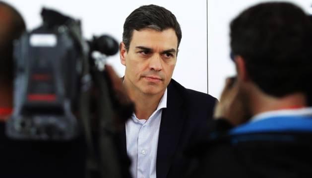 El líder del PSOE, Pedro Sánchez, ahir.