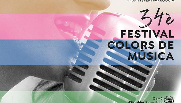 Cartell de la 34a edició del Festival Colors de Música d'Escaldes-Engordany