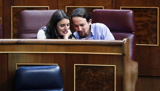 Iglesias i Montero al Congrés dels Diputats.