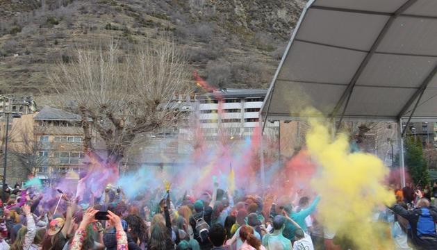 L'edició anterior de la Festa Holi a Encamp