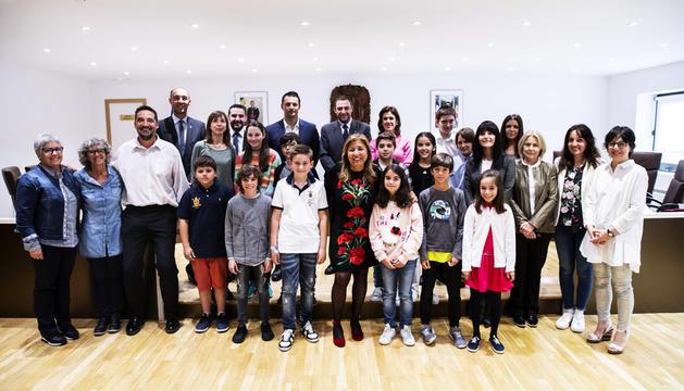 Els infants al comú d'Andorra la Vella, ahir.