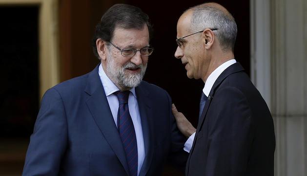 Rajoy i Martí, al Palau de la Moncloa durant la passada trobada el maig del 2017