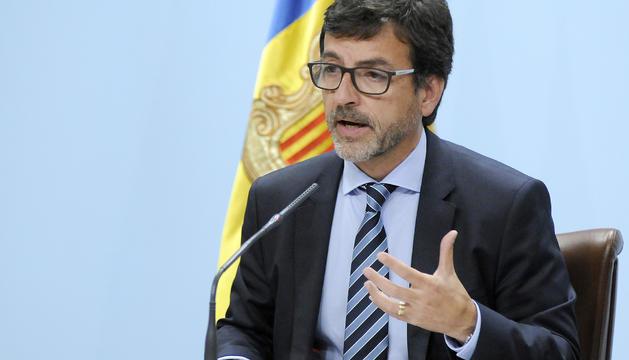 El ministre portaveu Jordi Cinca durant la roda de premsa posterior al consell de ministres