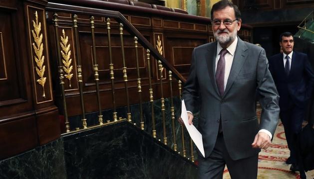 El president del govern espanyol, Mariano Rajoy, ahir al Congrés.