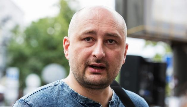 Arkadi Babchenko, ahir a Kíev.
