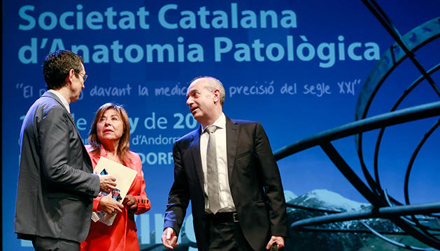 Inauguració del congrés català d'Anatomia Patològica.