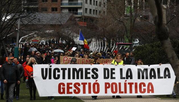 Protesta sindical contra la reforma de la Llei de la Funció Pública el març passat.
