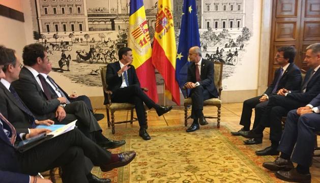 Reunió entre Toni Martí i Pedro Sánchez, aquesta tarda