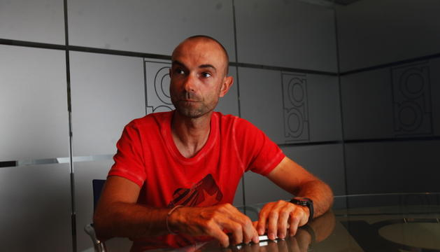 Ángel Vicioso, a la redacció del Diari d'Andorra.