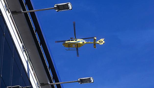 L'helicòpter de rescat en una intervenció anterior