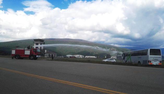 Simulacre d'accident a l'aeroport d'Andorra-La Seu