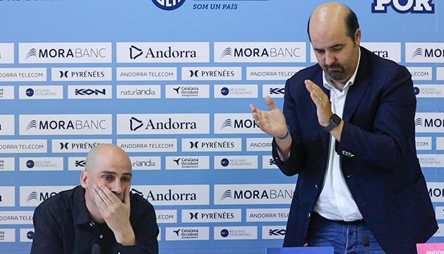 Aixàs reconeix Peñarroya  la seva trajectòria al club