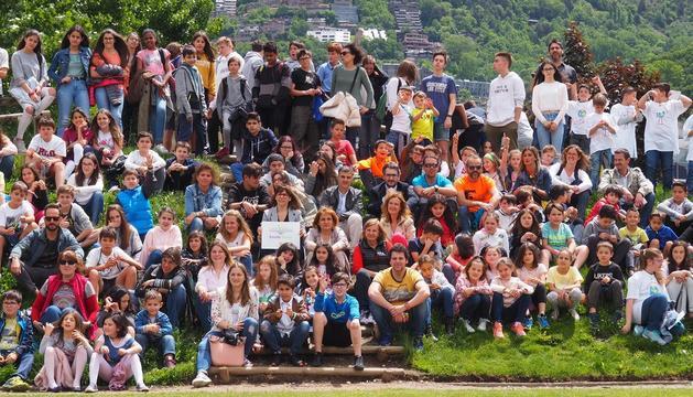 Els ministres i la cònsol major d'Escaldes a la fotografia de grup