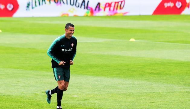 Cristiano Ronaldo, concentrat amb la selecció.