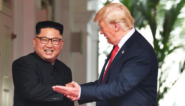 Donald Trump i Kim Jong-un, ahir.