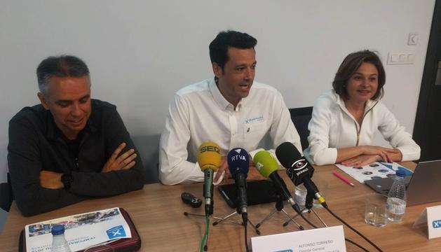David Hidalgo, Alfonso Torreño i Verònica Canals, a la presentació de la temporada d'estiu d'ahir.