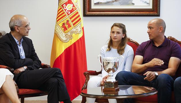 Toni Martí amb Vicky i Joan Jiménez