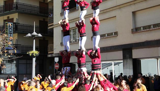 Els castellers d'Andorra celebren el quart aniversari