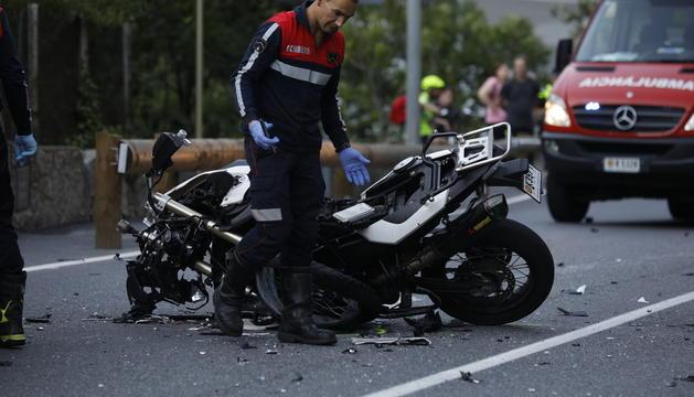 Accident a la carretera de l'Obac