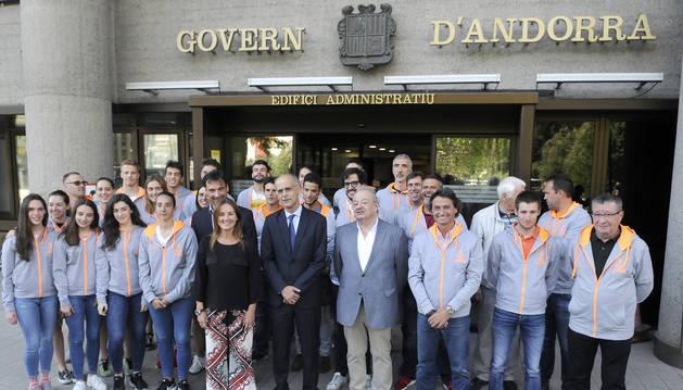 Recepció de la delegació andorrana als Jocs del Mediterrani