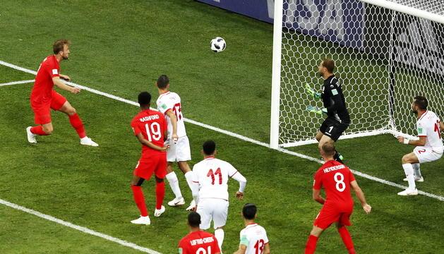 Kane va fer el gol definitiu amb una rematada de cap dintre de l'àrea petita.