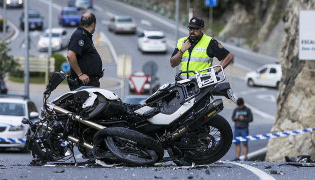 La BMW accidentada a la carretera de l'Obac