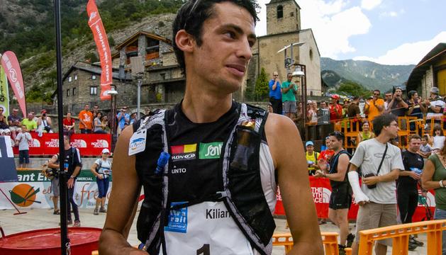 Kilian Jornet, en la seva última visita a Andorra com a corredor de muntanya, el 2009.