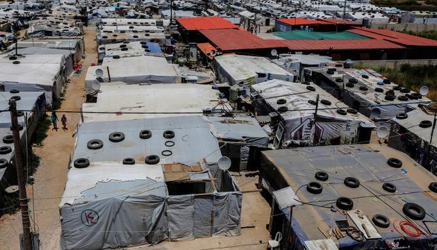 El campament de refugiats sirians d'Al-Basma, a l'est de Líban.
