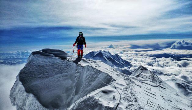 Stefi Troguet al cim del Denali, de 6.190 metres, que va coronar el 28 de maig.