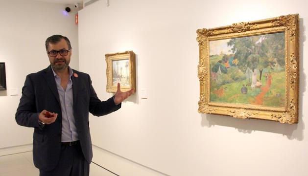 El director del museu, Guillermo Cervera, durant la presentació de l'activitat Art & Sentits
