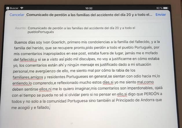 El comunicat de Goerlich
